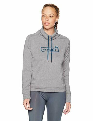 NWT UNDER ARMOUR Tech Terry Hunt Graphic Funnel Neck Womens S M L XL $65