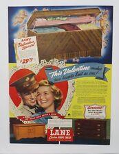 Original Print Ad 1943 LANE CEDAR HOPE CHEST This Valentine