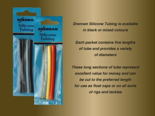 Drennan Black Silicone Tubing