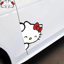 Un conjunto adorable hello kitty etiqueta de coche