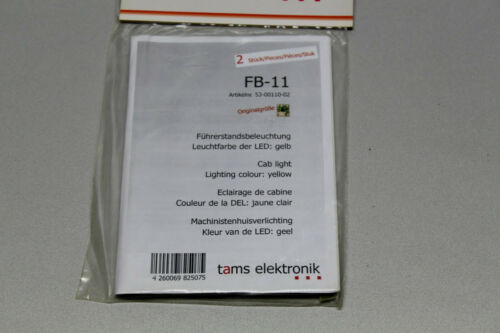 Tams Elektronik 53-00110-02 2 Stück Führerstandbeleuchtung FB-11 LED gelb OVP