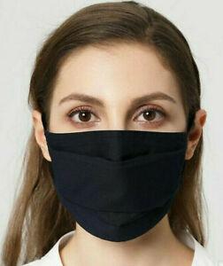 🇫🇷 Lot 10 Masques  AFNOR de Protection Lavable Norme Française Bleu Foncé