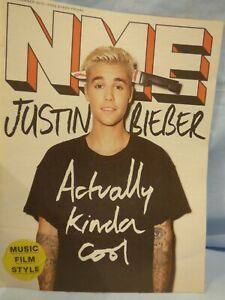 New Music Express NME 13th November 2015 Justin Bieber Actually Kinda Cool Cover
