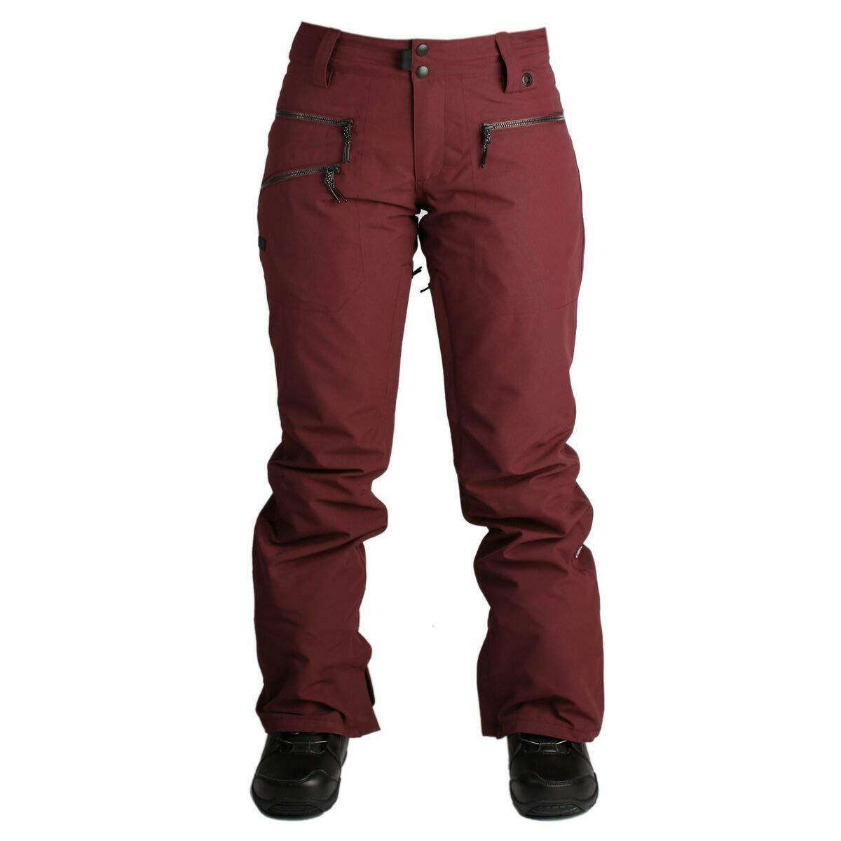 RIDE Women's LESHI Snow Pants - Burgundy Oxford -  Small - NWT  preferential