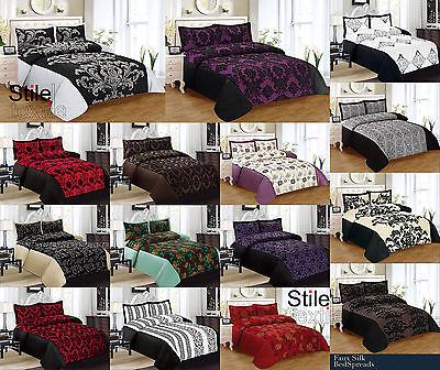 Gorgeous Flock 3Pcs Bedspread, Duvet Set 4Pcs Bedding / Curtains / Double & King