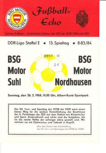 BSG Motor Suhl DDR-Liga 83/84  BSG Motor Nordhausen 26.02.1984