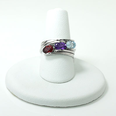 Birthstone Ring Sterling Stackable .925 Natural Gemstone Many Colors Available