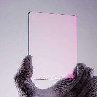 "SKIER UV IR Cut Filter 4""x4"" Square Camera DSLR AR for Matte Box Holder New"