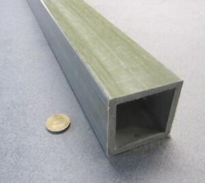"""Fiberglass Square Tube Green  2.50"""" Square x 1/4"""" Wall x 60"""" Length"""