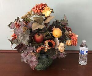 Flower Arrangement Artificial Flowers Floral Decor Ebay