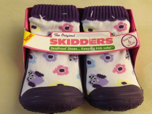 SKIDDERS SKIDPROOF SHOES Sock Rubber Owls Flowers Girl Baby//Toddler 6 18 months