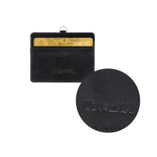 """Wisdompro Double Sided PU Leather ID Badge Card Holder with 23/""""... Badge Holder"""