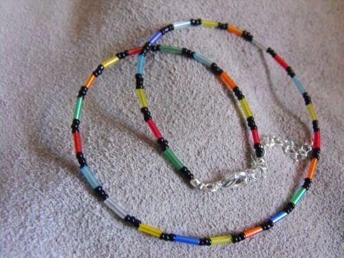"""14"""" - 22"""" Vetro Perline Collana Girocollo Collare Rainbow Vetro Seme Perline"""