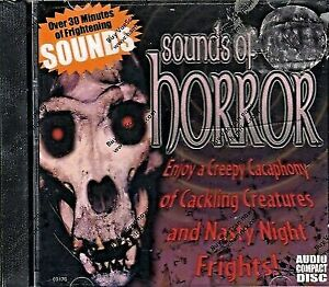 Sounds of Horror CD Halloween Sound Effects 2009 Scary Music Creepy  Frightening