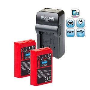 Baxxtar-RAZER-600-5in1-Ladegeraet-2x-Baxxtar-Akku-fuer-Olympus-BLS-5-BLS-50