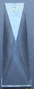 1 Fensterschmuck 50x14 mm. Rechteck Kristallanhänger, Lüstersteine, Prismen  #12