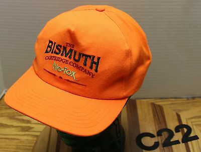 Vintage The Bismuth Cartridge Company No Tox Hat Orange