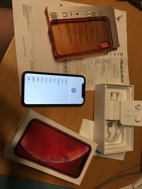Apple iPhone XR (PRODUCT) RED - 256 Go - (Sans Simlock) a2105-Accessoires est neuf dans sa boîte -