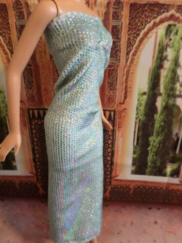 NEW fits regular /& curvy dolls Bluish GOWN for Barbies R.Dolls exclusive