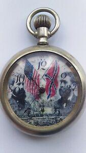 waltham 1905 civil war pocket watch size 8 , 15 jewels