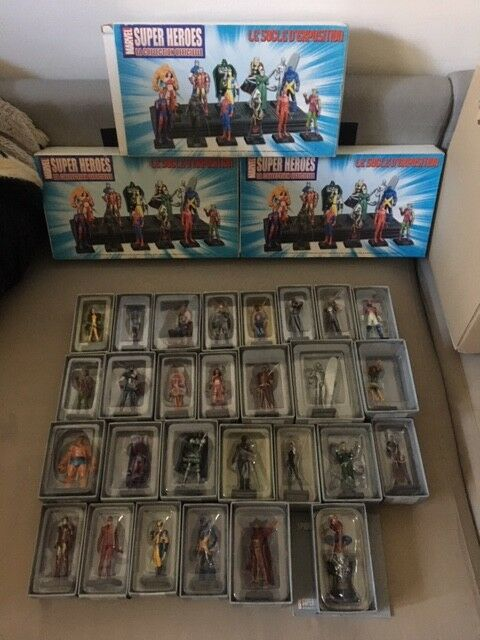 Lot de 28 Figurines Marvel super heroes la collection officielle