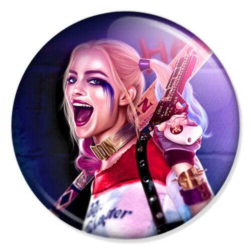 "Suicide Squad Harley Quinn 25mm 1/"" Pin Badge Margot Robbie Jared Leto Joker 2"