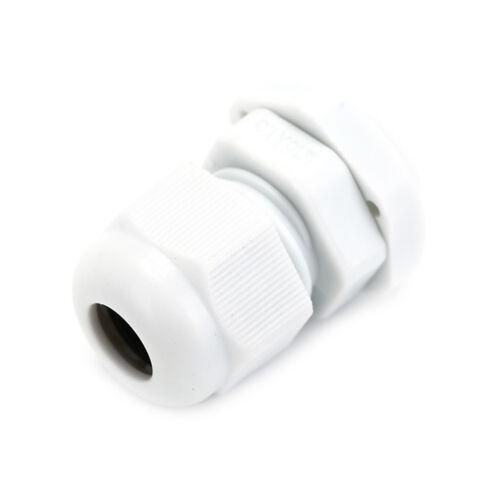 10Pcs M16x1.5 4-8mm Black White Plastic Waterproof Thread Cable Gland Jonit H RU