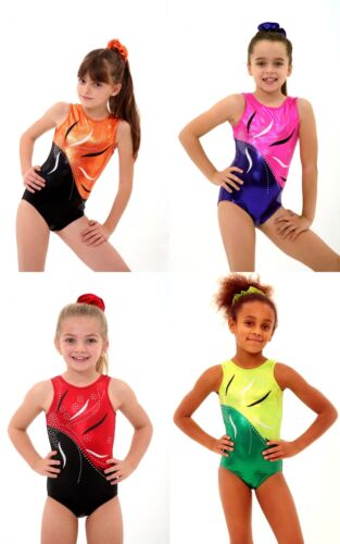 ALL SIZES Fleur Bodice Girls Gymnastics Leotard 26,28,30,32,34,36,38 FoilGems