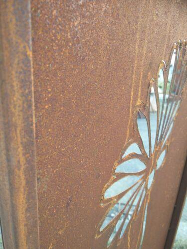 Edelrost Sichtschutz Wand Rost Sichtschutzwand Gartenzubehör Metall H125*50cm