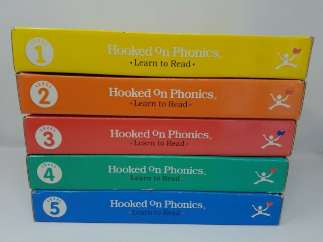 HOOKED ON PHONICS Complete Set Levels 1-5  Learn to Read w//Books Homeschooling