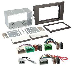 Autoradio 2-DIN Einbaurahmen Radioblende+Adapter Einbauset für Hyundai Santa Fe