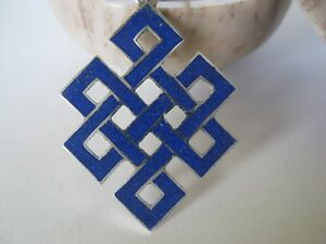 Lapis-Silver-Pendant-Sterling-Shrivasta-Eternity-Knot