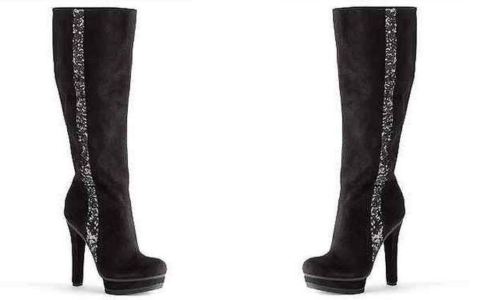 Jennifer Lopez Tall Platform Boots - Women BLACK MULTIPLE SIZES MSRP9 NEW BOX