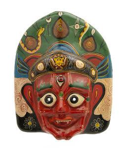 Maschera Nepalese Mahakali Kali Dance Indra Jatra Nepal Carta Mache Mask 4114