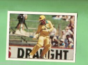1985 SCANLENS CRICKET STICKER #84  ALLAN BORDER, AUSTRALIA