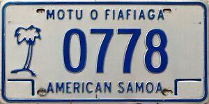 GENUINE-American-Samoa-Motu-O-Fiafiaga-Licence-License-Plate-Tag-0778