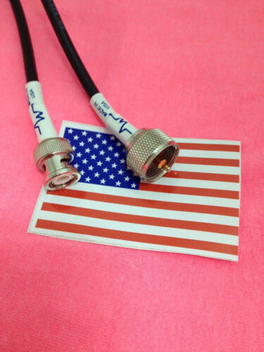 BNC male to  PL-259 Male jumper pigtail Cable RG58 20/' MADE IN USA