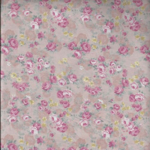 Pastel Rose Floral Blenders 100/% Cotton Fabric FQ Craft Quilting Patchwork