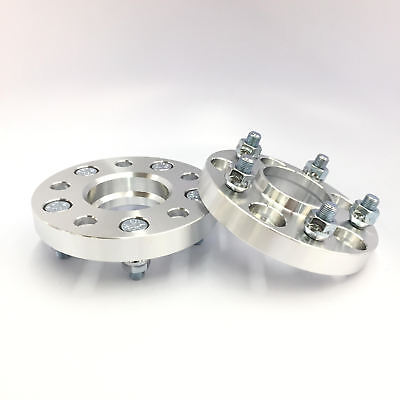 2 Pieces 1 25mm Hub Centric Wheel Spacers Adapters Bolt Pattern 5x114.3 5x4.5 Thread Pitch 12x1.25 Center Bore 56.1mm Fits STI