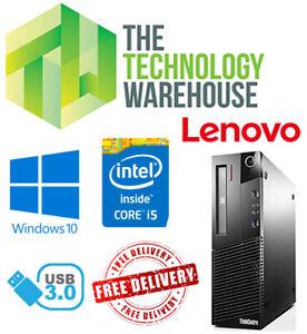 LENOVO-ThinkCentre-Computer-PC-Intel-i5-CPU-fino-a-16GB-RAM-SSD-veloce-Windows-10