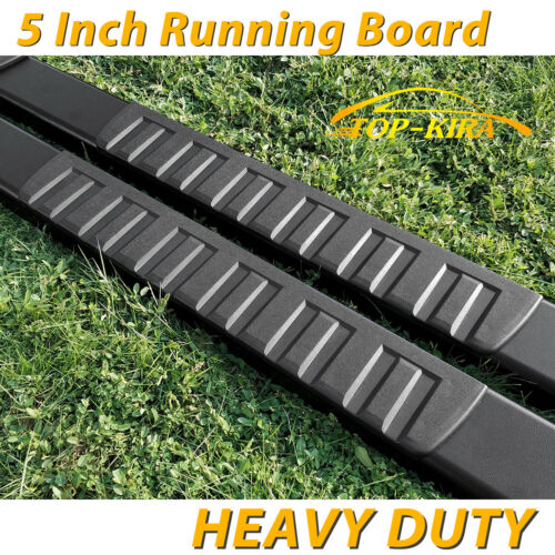 "For 02-08 DODGE Ram 1500 Quad Cab 5/"" Running Board Side Step Nerf Bar H Black"