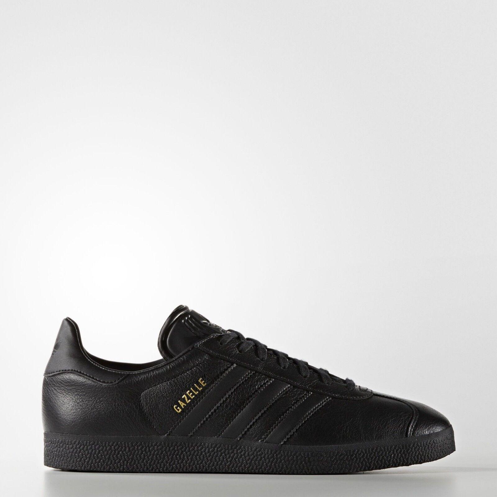 Adidas Gazelle Mens Swarz Gold Metallic Leather Athletic Turnschuhe 10 10.5 11