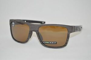 ead137c1db Image is loading Oakley-Crossrange-POLARIZED-Sunglasses-OO9361-0757- Woodgrain-W-