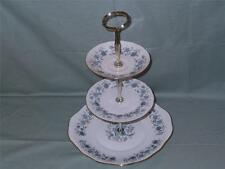 Colclough Braganza Bone China 3-Tier Hostess Cake Plate Stand Patt. 8454 (Lot B)