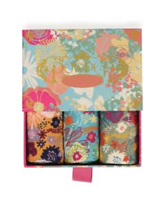 Bamboo Socks Gift Set by Powder 3 Pairs of Ladies Socks Modern Floral Design