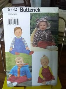 Oop-Butterick-6782-infants-jacket-overall-jumper-sz-nb-29-lbs-NEW