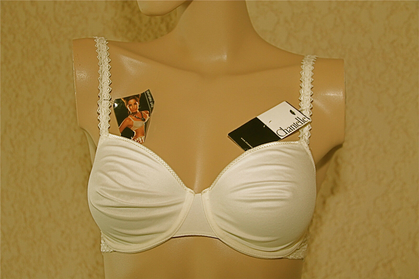 Bra white bra fittings CHANTELLE 85D new label VAL