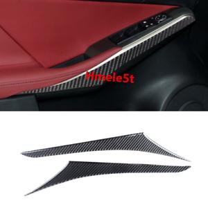 For LEXUS IS250//300//350//200 2014-2018 Carbon Fiber Inner Door Armrest Cover Trim