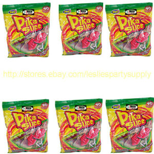 Image Is Loading 6x Jovy Pika Slice Watermelon Sandia Flavor Lollipops