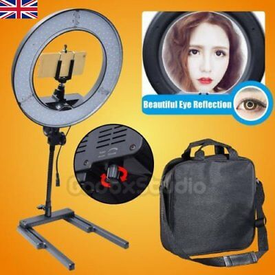 Dimmable 40W 34cm LED Ring Light + Camera Phone Holder fr Photo Video